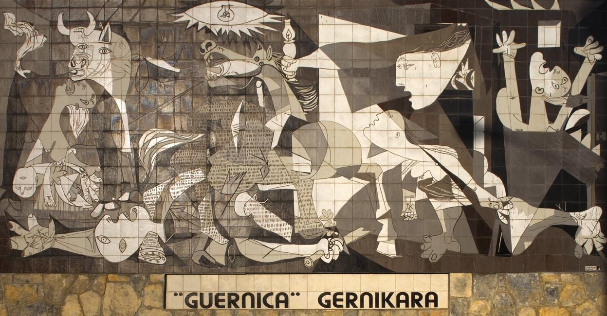 Guernica Źródło: Pablo Picasso, Guernica , licencja: CC BY-SA 3.0.