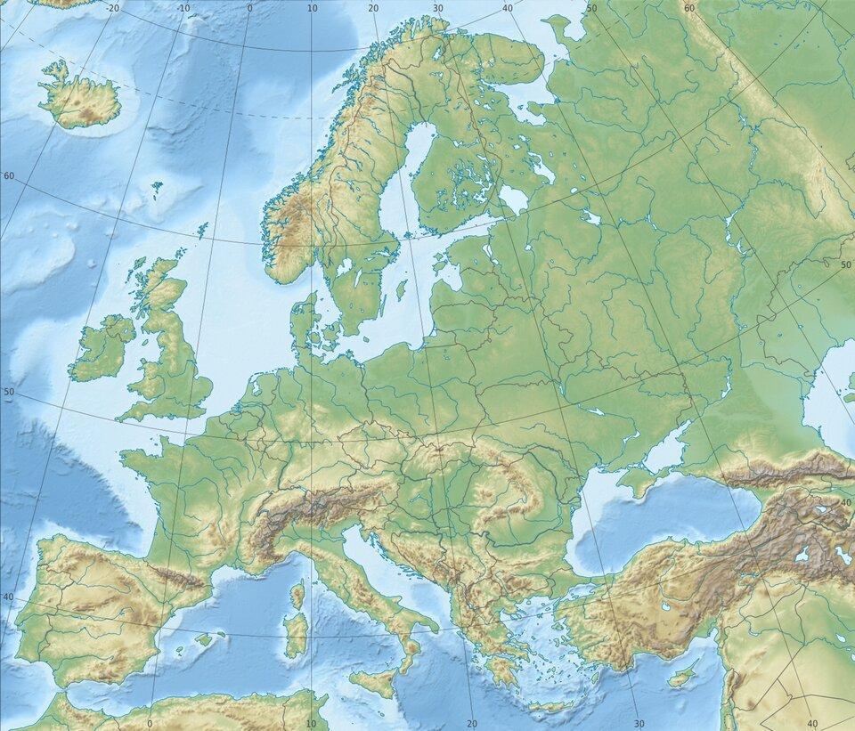 Europa – ukształtowanie powierzchni