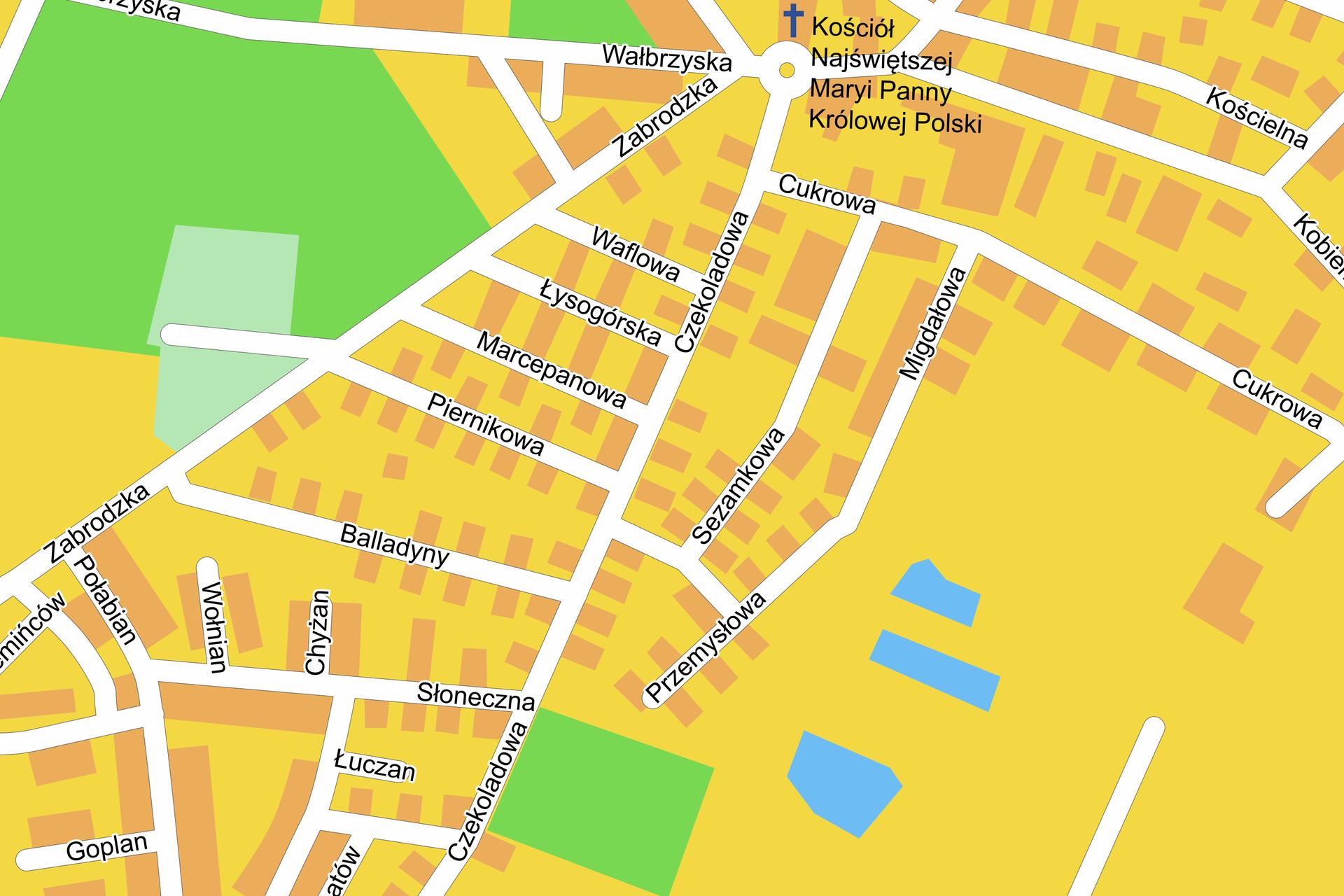Fragment planu Wrocławia.