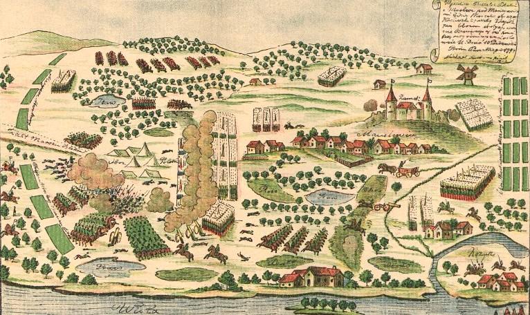 Bitwa pod Maciejowicami 10 października 1794 r. Źródło: Bitwa pod Maciejowicami 10 października 1794 r., domena publiczna.