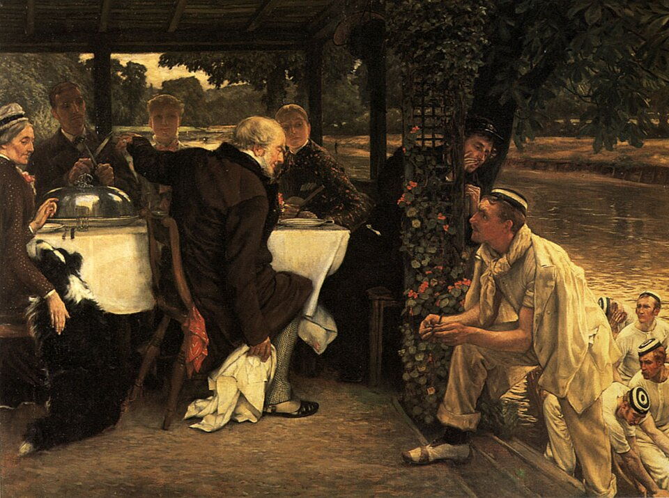 Powrót syna marnotrawnego Źródło: Jacques-Joseph Tissot, Powrót syna marnotrawnego, ok. 1882, olej na płótnie, prywatna kolekcja, domena publiczna.