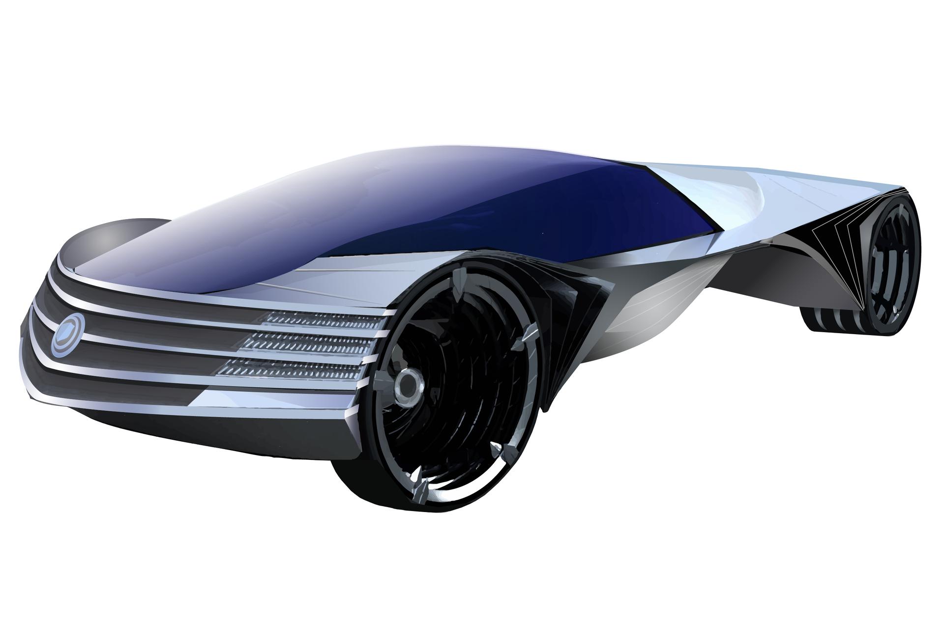 Grafika przedstawiająca samochód