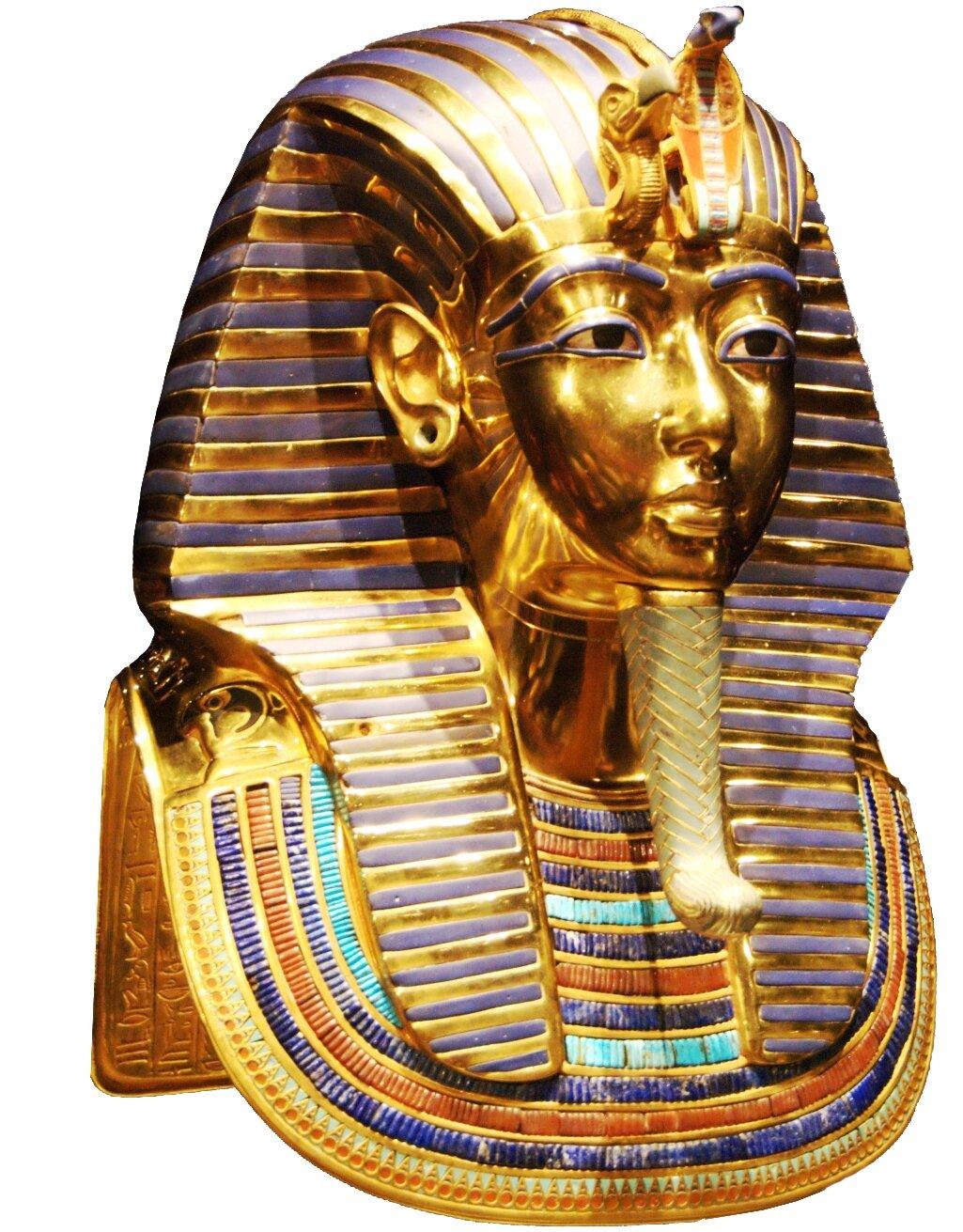 Złota maska grobowa Tutanchamona,obecniewMuzeum Kairskim Złota maska grobowa Tutanchamona,obecniewMuzeum Kairskim Źródło: Kačka aOndra, Wikimedia Commons, licencja: CC BY 2.0.