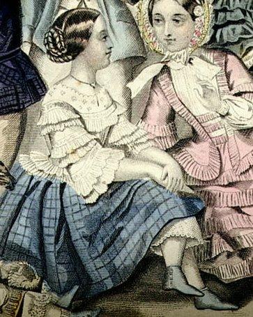 Strój dziewczęcy Źródło: Strój dziewczęcy, 1885, domena publiczna.