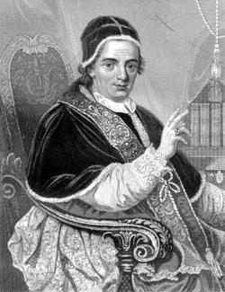 Papież Klemens XIV Źródło: Papież Klemens XIV, domena publiczna.