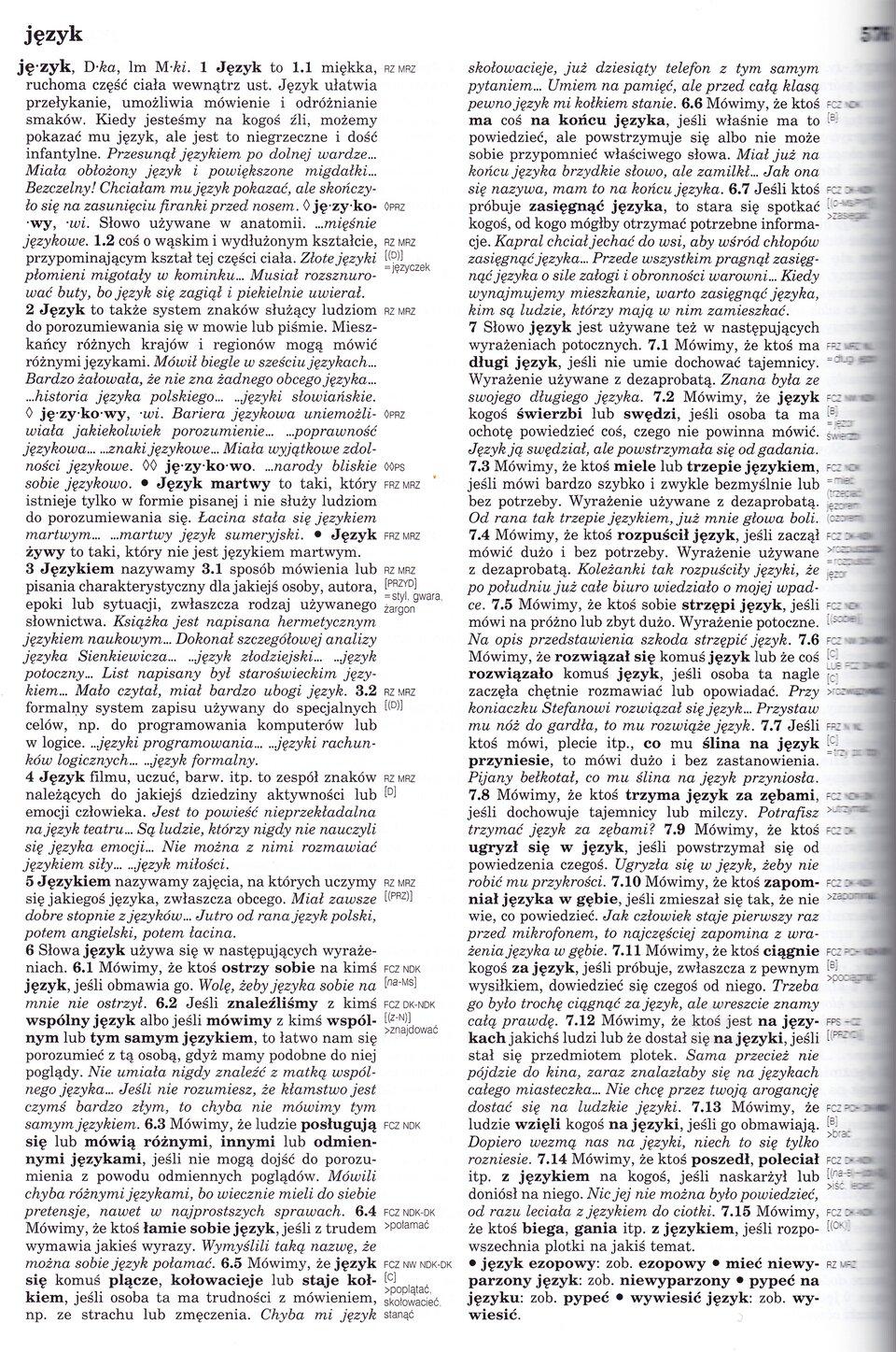 Inny słownik języka polskiego, t. 1–2, red. Mirosław Bańko, Wydawnictwo Naukowe PWN, Warszawa 2000, s. 576. Inny słownik języka polskiego, t. 1–2, red. Mirosław Bańko, Wydawnictwo Naukowe PWN, Warszawa 2000, s. 576. Źródło: skan, domena publiczna.