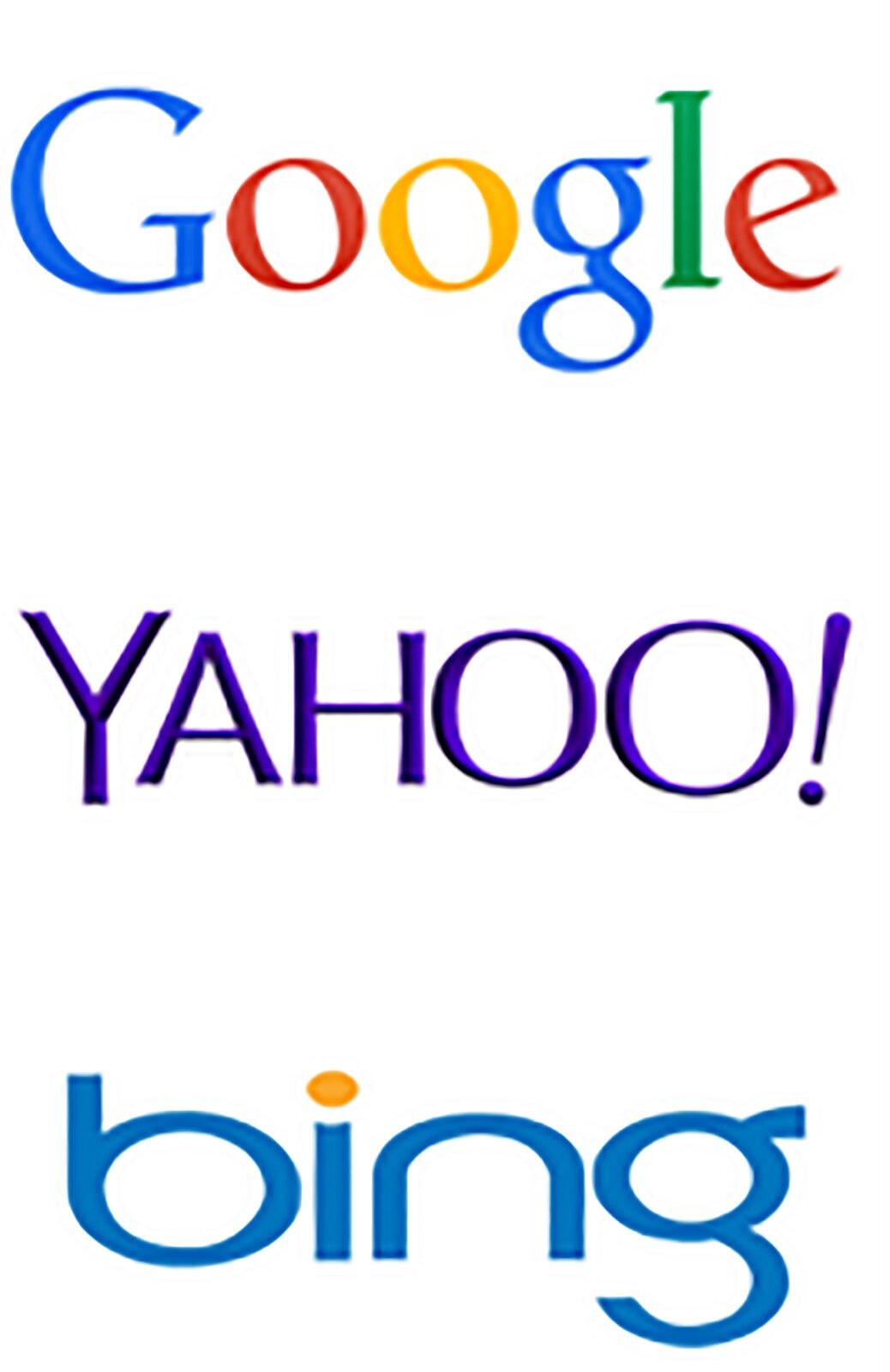 Zrzut znaków graficznych przykładowych wyszukiwarek