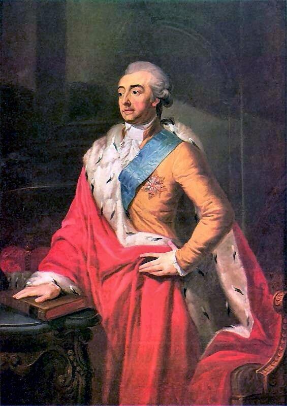 Adam Kazimierz Czartoryski Źródło: Józef Peszka, Adam Kazimierz Czartoryski, 1791, Olej na płótnie, Muzeum Narodowe wWarszawie, domena publiczna.