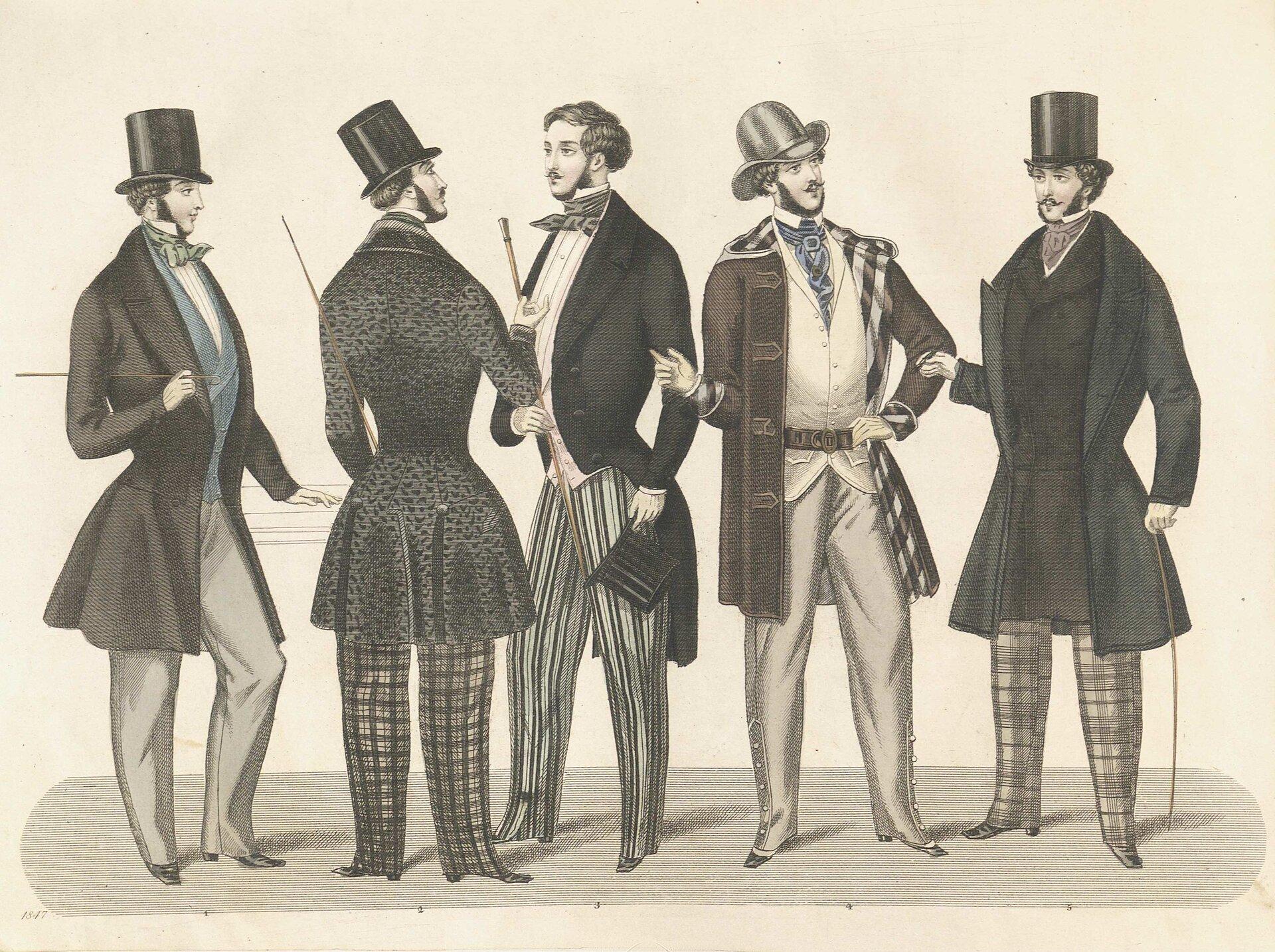 Sztokholmski magazyn mody Źródło: Sztokholmski magazyn mody, 1847, Nordic Museum, domena publiczna.