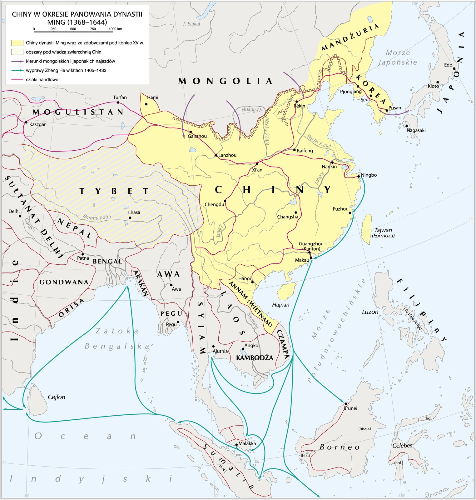 Chiny wokresie panowania dynastii Ming Chiny wokresie panowania dynastii Ming Źródło: Krystian Chariza izespół, licencja: CC BY 4.0.