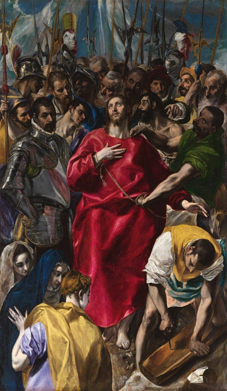 Obnażenie Chrystusa Źródło: El Greco, Obnażenie Chrystusa, 1577-1579, olej na płótnie, Sacristy of the Cathedral, Toledo, domena publiczna.