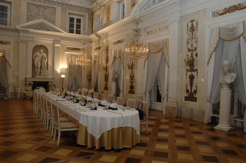 Pałac na Wyspie – wnętrza Pałac na Wyspie – wnętrza Źródło: European People's Party, Wikimedia Commons, licencja: CC BY-SA 2.0.