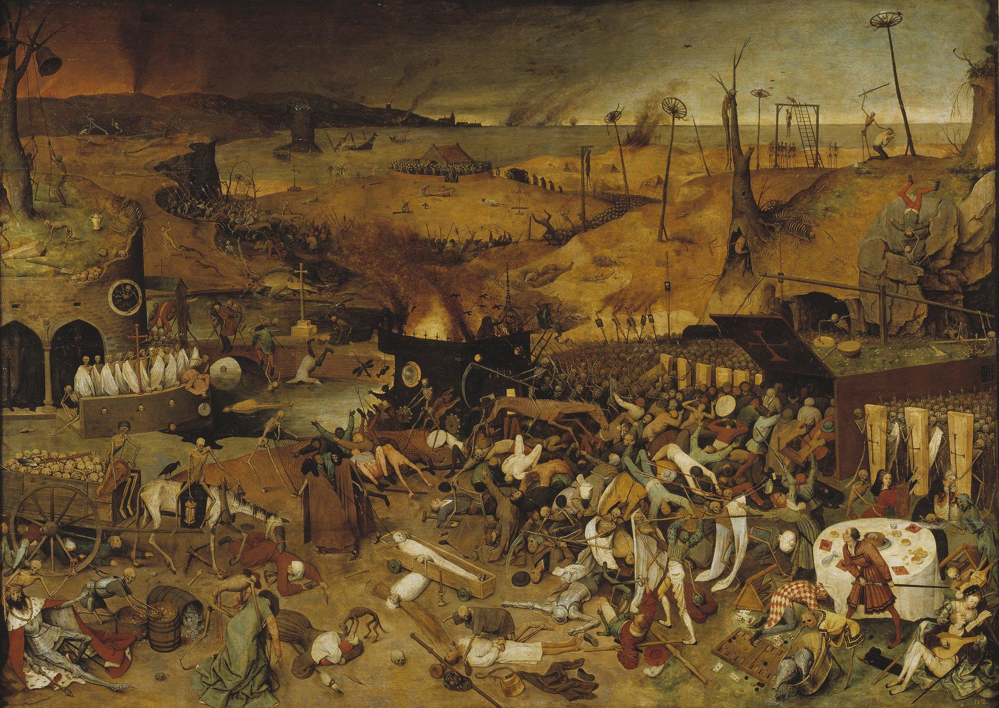 Triumf śmierci Źródło: Pieter Bruegel, Triumf śmierci, 1562, Museo del Prado, Madryt, licencja: CC BY 1.0.