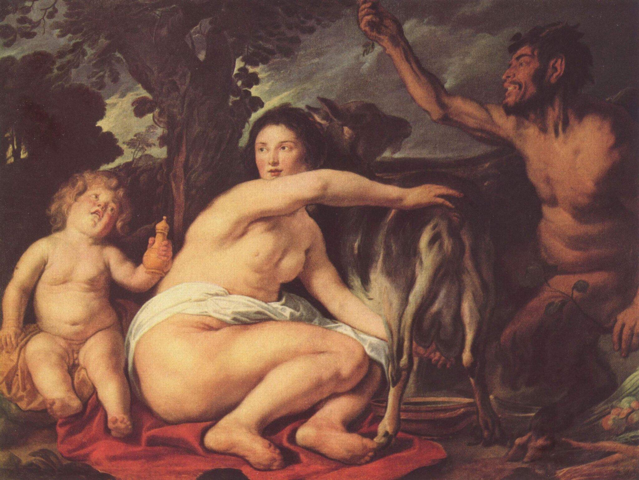 Dzieciństwo Zeusa Źródło: Jakob Jordaens, Dzieciństwo Zeusa, ok. 1640, Luwr, Paryż, domena publiczna.