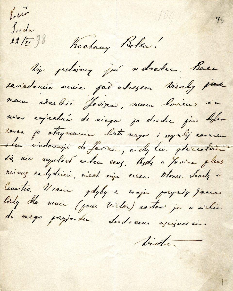 List Józefa Piłsudskiego List Józefa Piłsudskiego Źródło: domena publiczna.