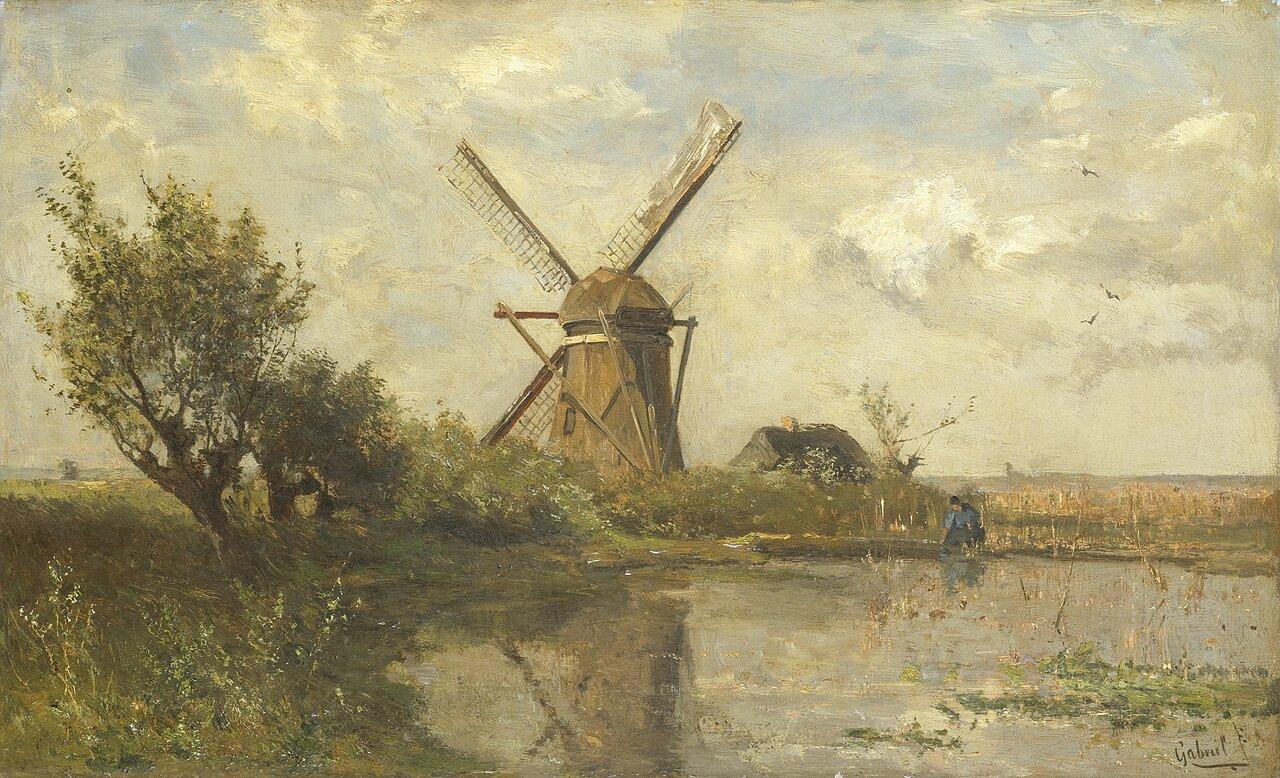 Młyn nad jeziorem Źródło: Paul Gabriël, Młyn nad jeziorem, ok. 1860, olej na płótnie, Rijksmuseum, Amsterdam, domena publiczna.