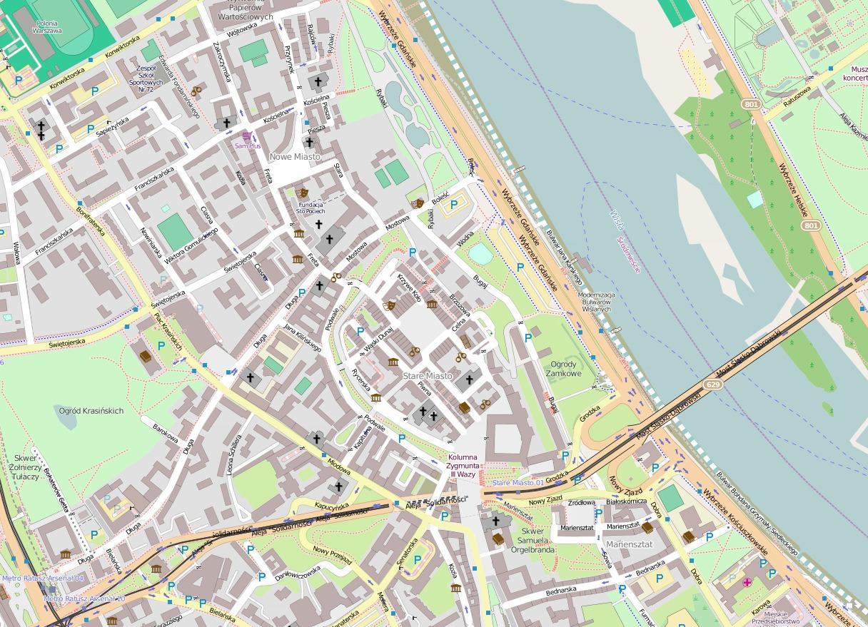 Plan Warszawy (Stare Miasto) Plan Warszawy (Stare Miasto) Źródło: Autorzy OpenStreetMap, mapa, licencja: CC BY-SA 2.0.