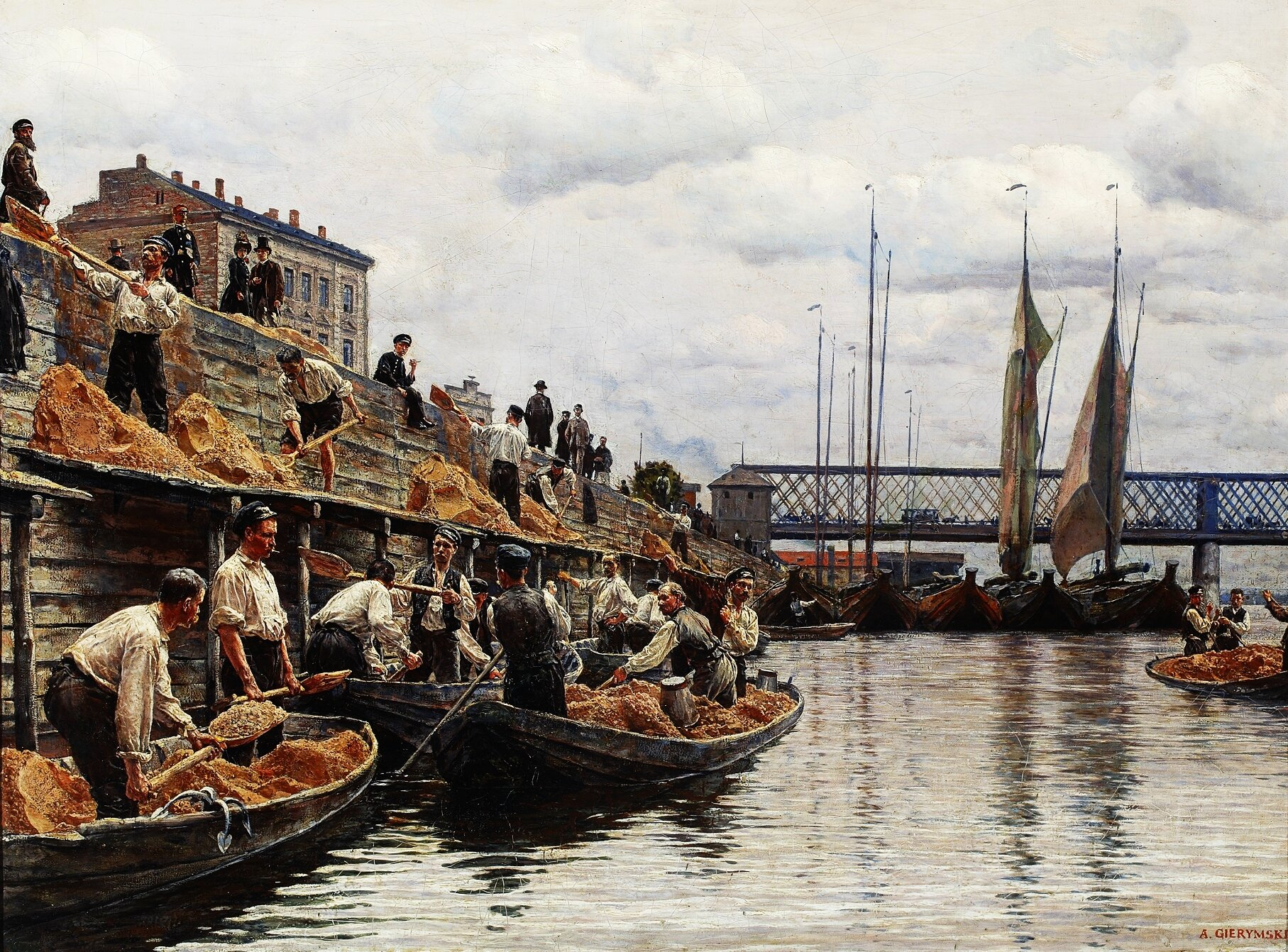 Piaskarze Źródło: Aleksander Gierymski, Piaskarze, 1887, olej na płótnie, domena publiczna.