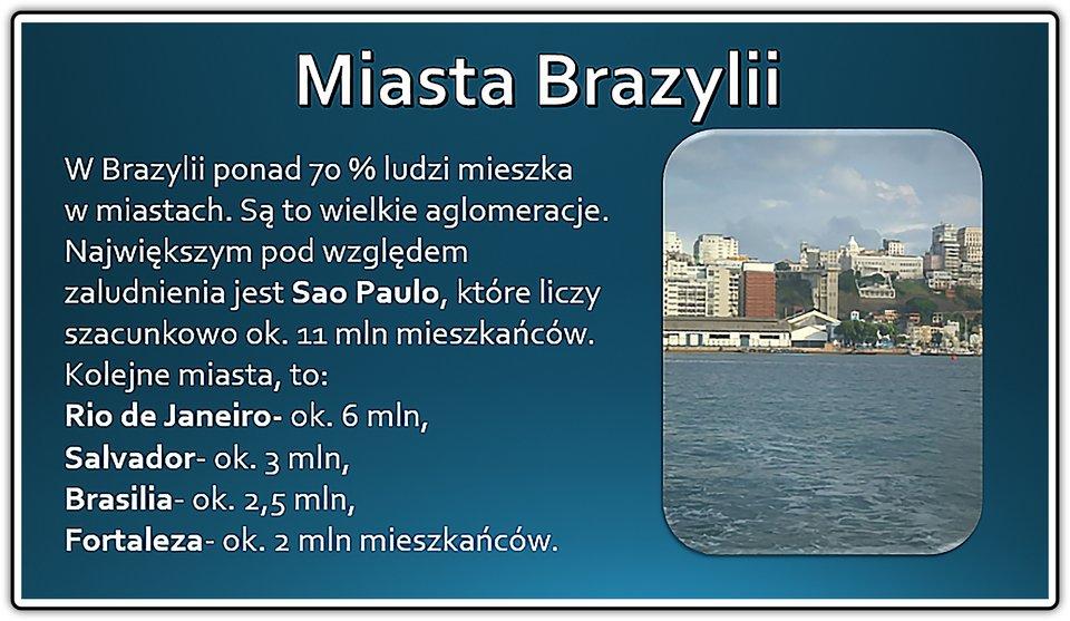 Zrzut slajdu: Miasta Brazylii