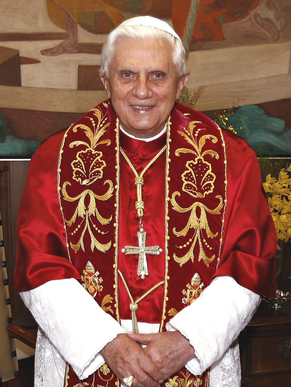 Joseph Ratzinger (Benedykt XVI) Joseph Ratzinger (Benedykt XVI) Źródło: Fabio Pozzebom, fotografia barwna, licencja: CC BY 3.0.