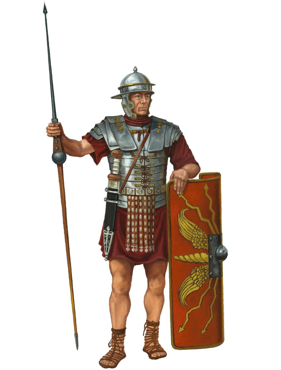 Rzymski legionista Rzymski legionista Źródło: Contentplus.pl sp. zo.o., Dariusz Bufnal, licencja: CC BY 3.0.