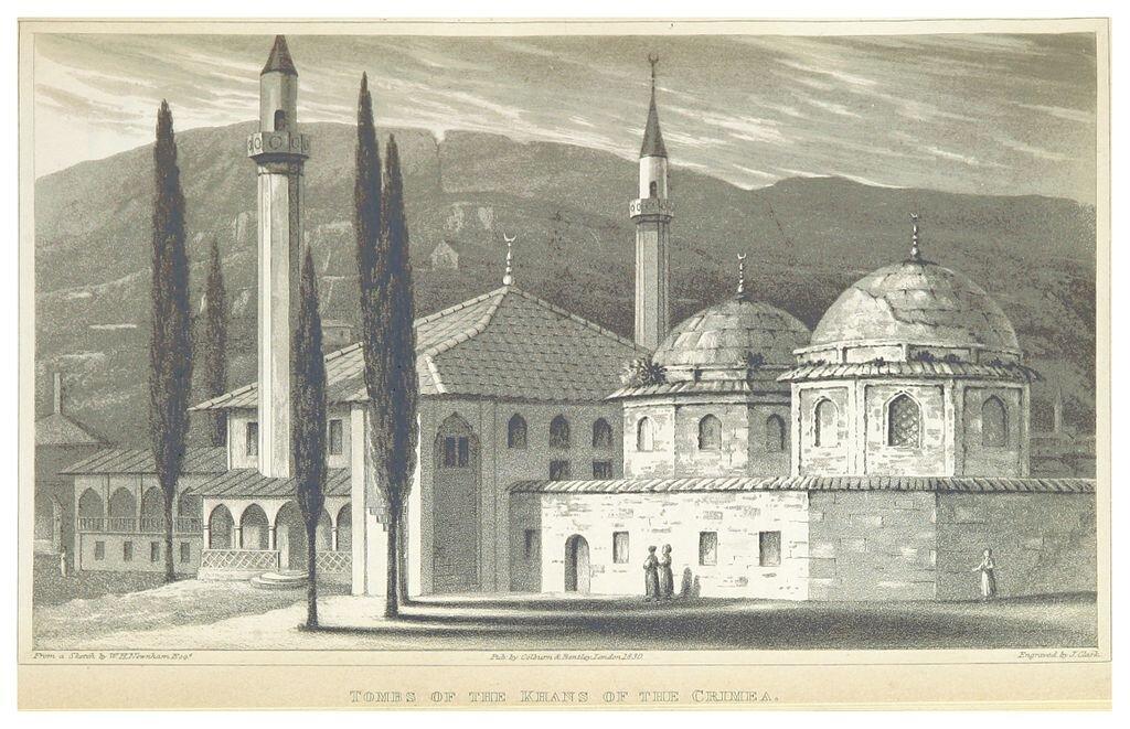 Pałac chanów krymskich wBakczysaraju, 1830 Pałac chanów krymskich wBakczysaraju, 1830 Źródło: 1830, licencja: CC 0.