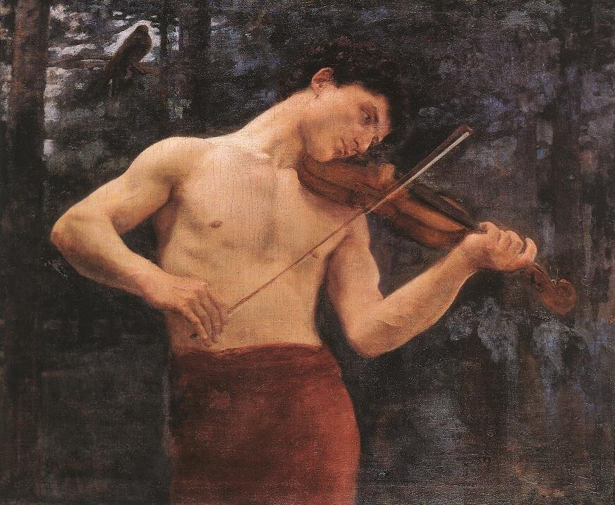 Orfeusz Źródło: Károly Ferenczy, Orfeusz, 1894, domena publiczna.