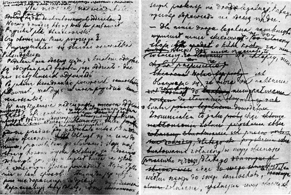 Zapiski Prezydenta Wojciechowskiego zokresu zamachu