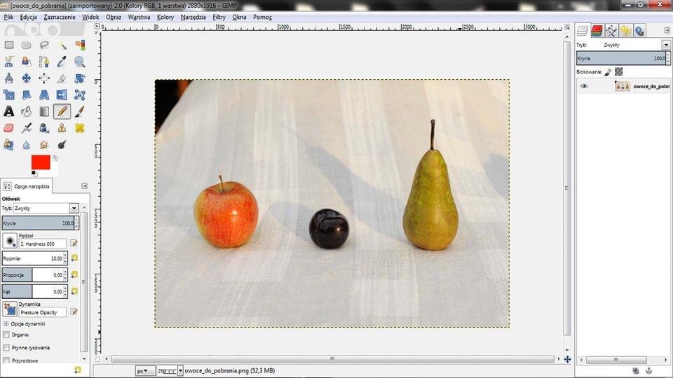 Film: Wykonanie opisu do rysunku wprogramie GIMP