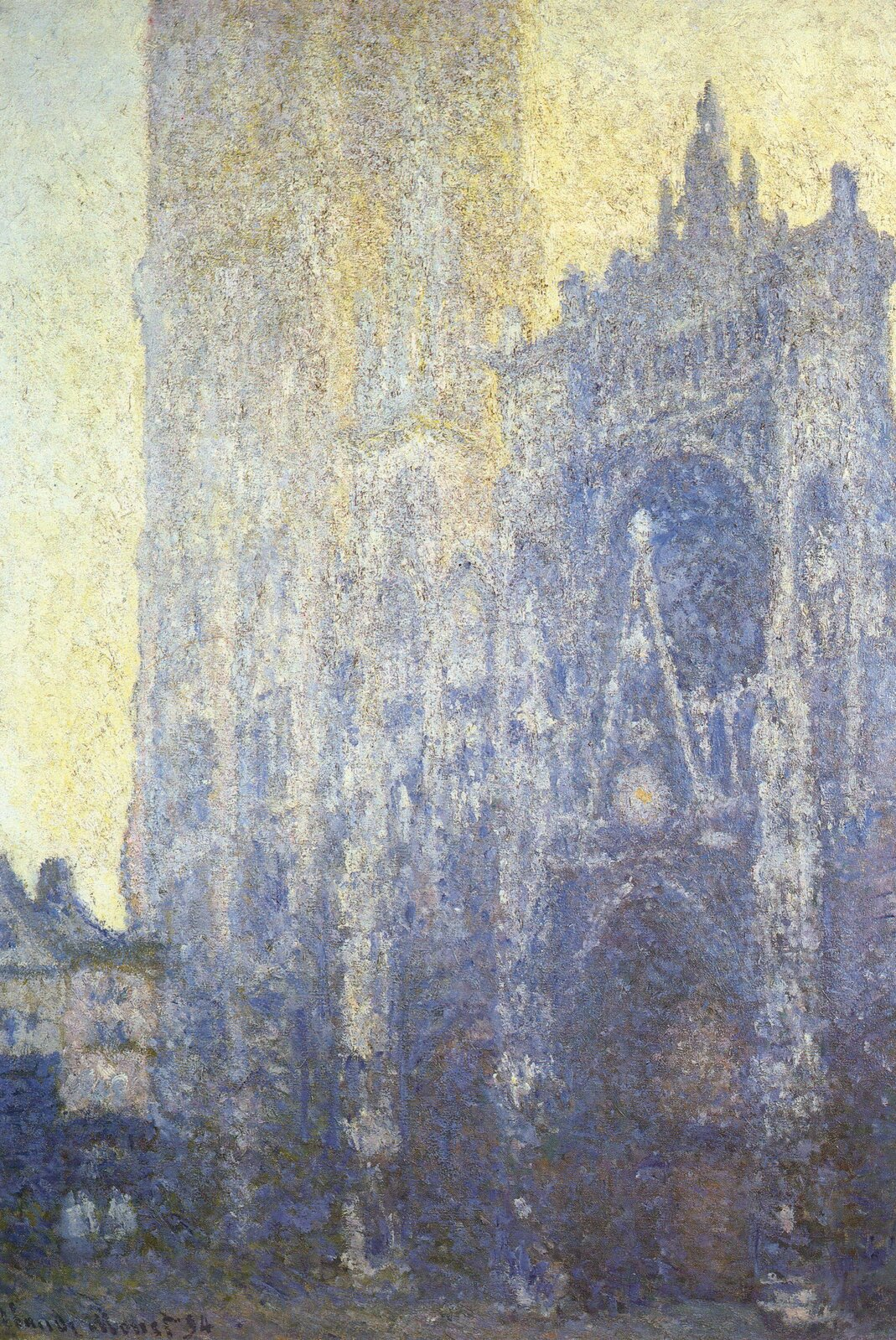 """Claude Monet, """"Katedra wRouen"""", 1892–1894, olej na płótnie,  Muzeum Folkwang, Essen, Niemcy, wikimedia.org, domena publiczna"""