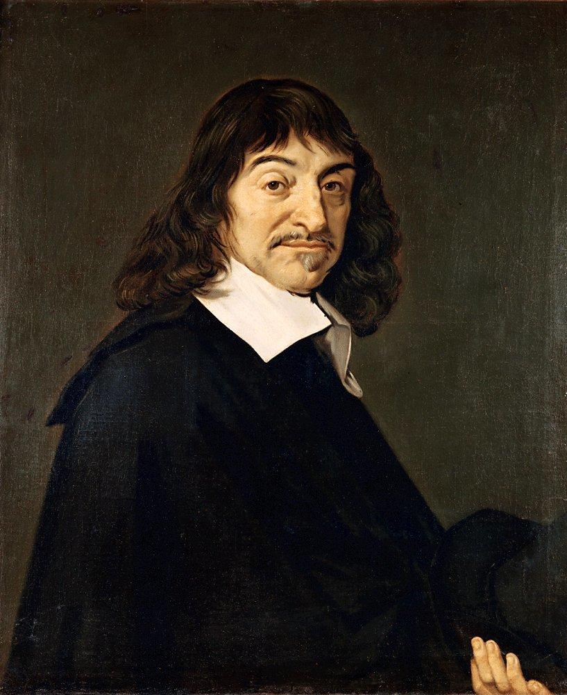 Portret René Decartes'a, zwanego Kartezjuszem (1596-1650) Portret René Decartes'a, zwanego Kartezjuszem (1596-1650) Źródło: Frans Hals, ok. 1649-1700, olej na płótnie, Muzeum wLuwrze, domena publiczna.