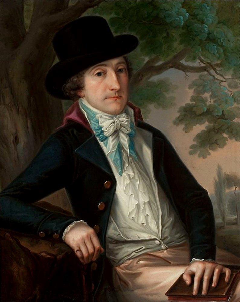 Portret Wojciecha Bogusławskiego Źródło: Józef Reichan, Portret Wojciecha Bogusławskiego, 1798, Olej na płótnie, Muzeum Narodowe wWarszawie, domena publiczna.