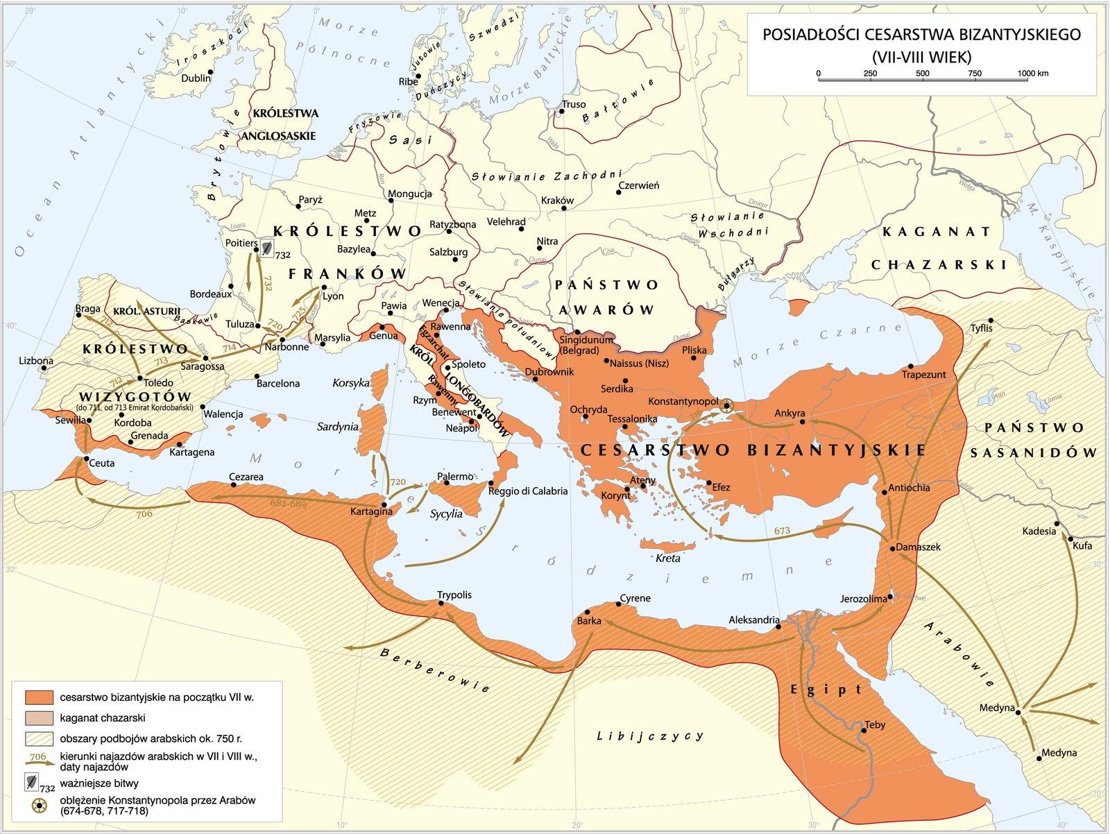 mapa - Cesarstwo Bizantyjskie