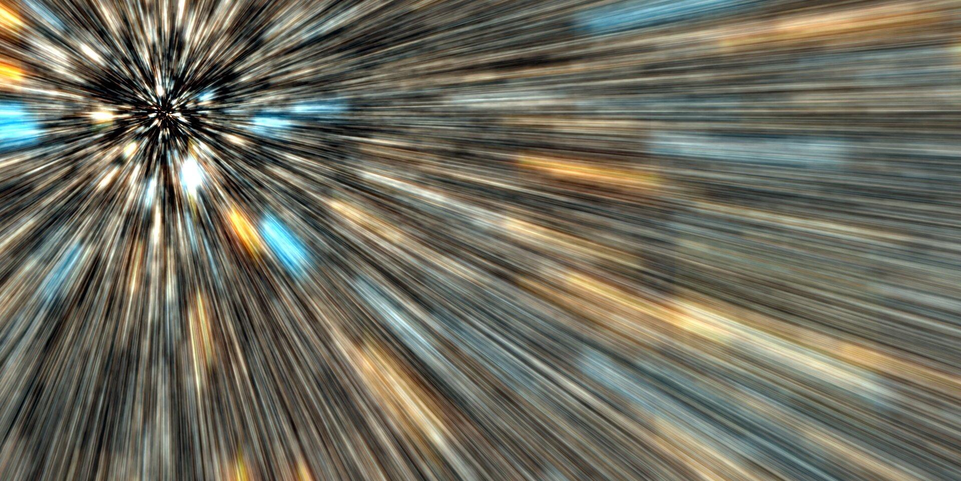 Zdjęcie będące artystyczną wizja hasła: szybkość światła