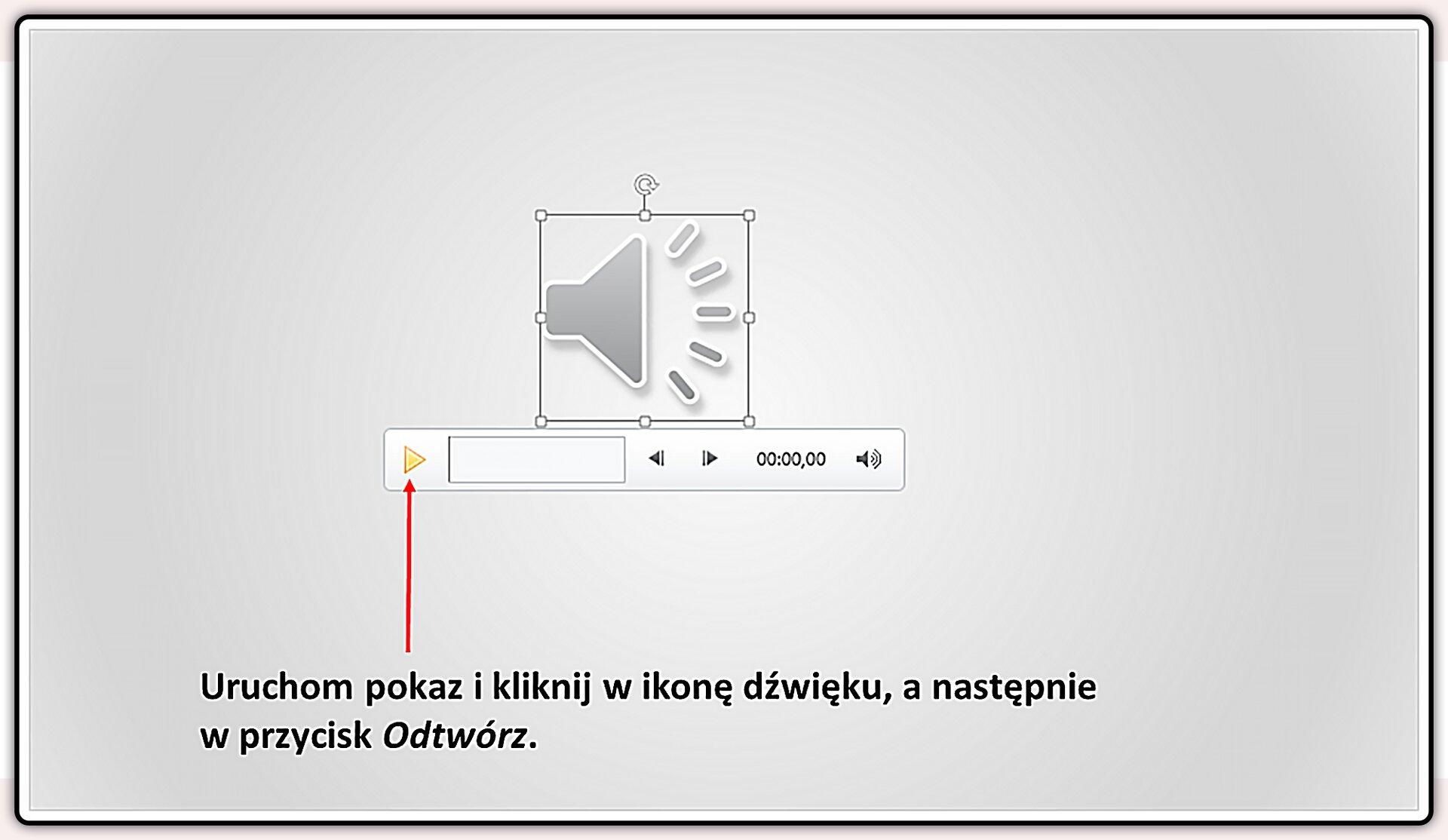 Slajd 6 galerii slajdów pokazu: Nagrywanie komentarza do prezentacji wprogramie MS PowerPoint