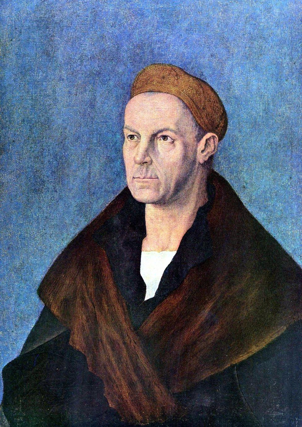 Jacob Fugger Bogaty Źródło: Albrecht Dürer, Jacob Fugger Bogaty, 1519, tempera na płótnie, Staatsgalerie Altdeutsche Meister, Augsburg, domena publiczna.