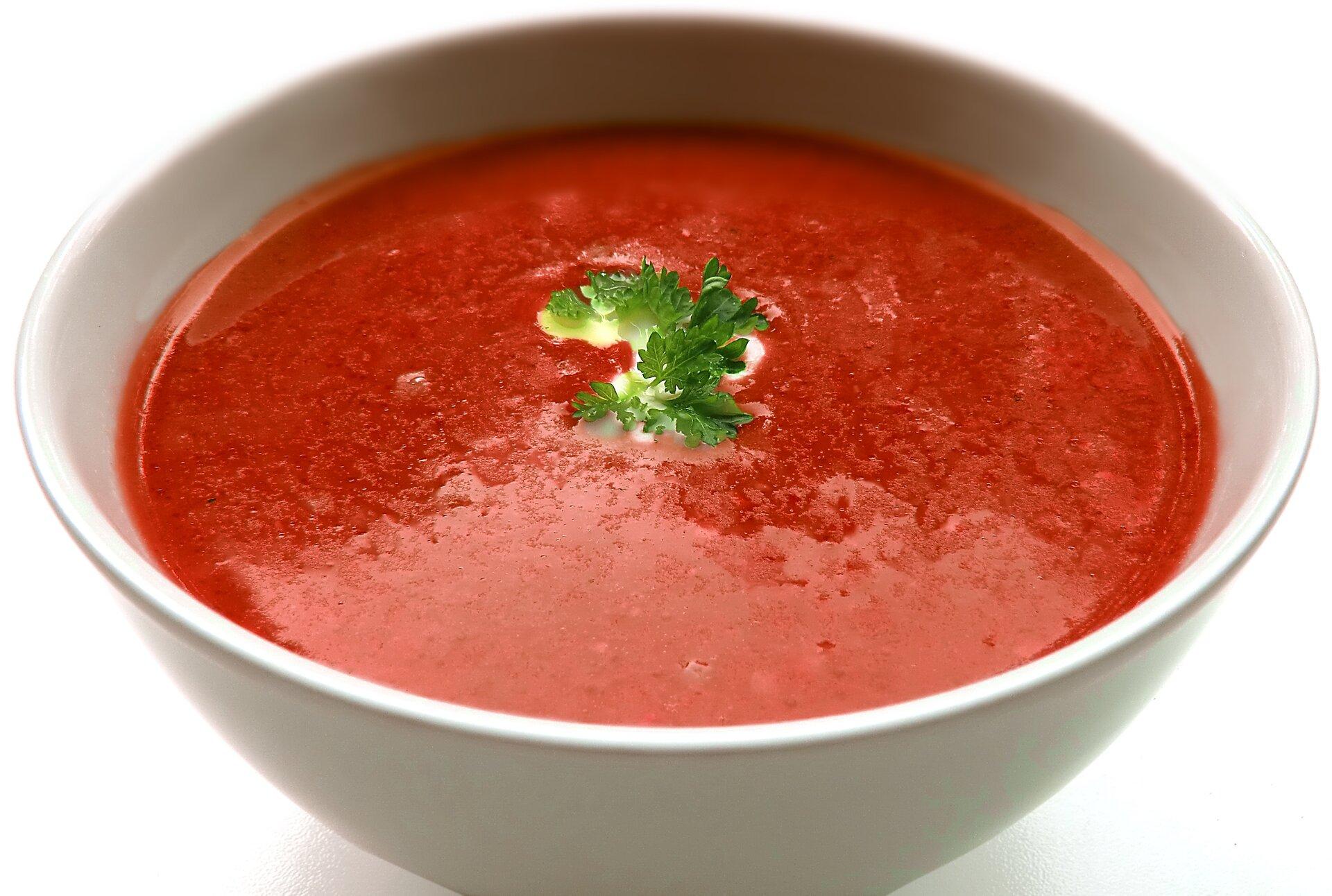Zupa pomidorowa - zdjęcie stock Źródło: domena publiczna.