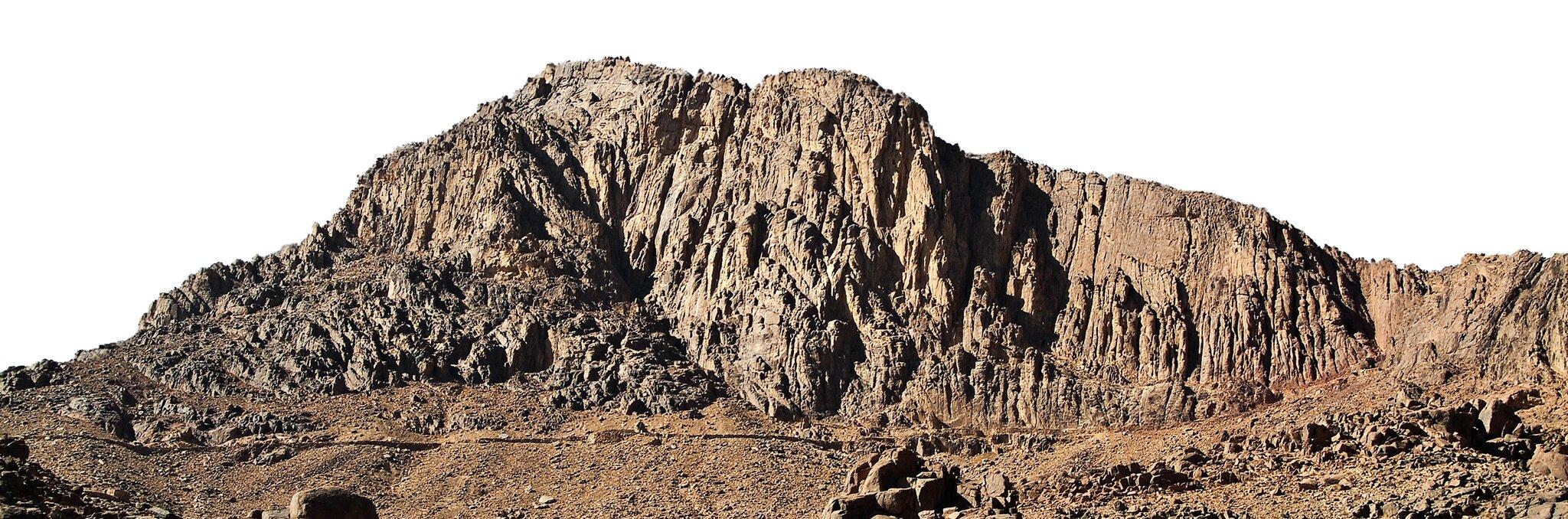 Góra Synaj, na której Jahwe przekazał Mojżeszowi dekalog Góra Synaj, na której Jahwe przekazał Mojżeszowi dekalog Źródło: Studio31, Wikimedia Commons, licencja: CC BY-SA 3.0.