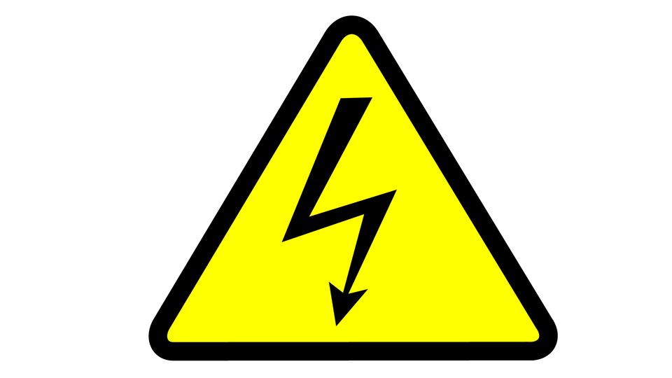 Symbol wysokiego napięcia elektrycznego
