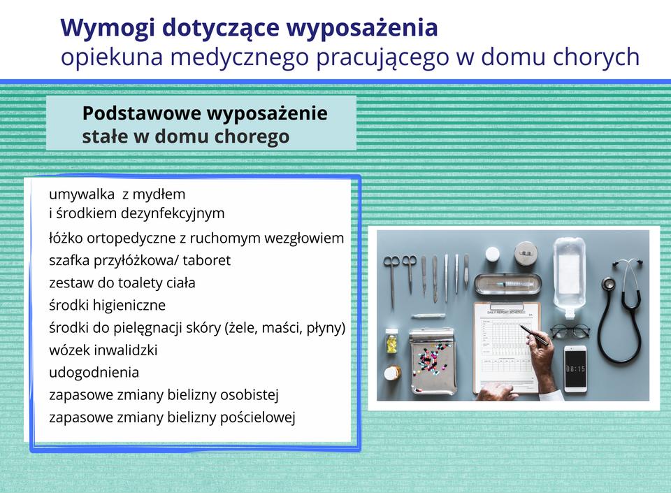 Grafika przedstawia elementy wyposażenia punktu sterylizacji medycznej.
