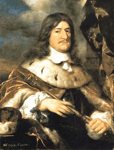 Wielki Elektor – Fryderyk Wilhelm I(1640-1688), książę Prus Źródło: Govert Flinck, Wielki Elektor – Fryderyk Wilhelm I(1640-1688), książę Prus, 1652, olej na płótnie, Charlottenburg Palace, domena publiczna.