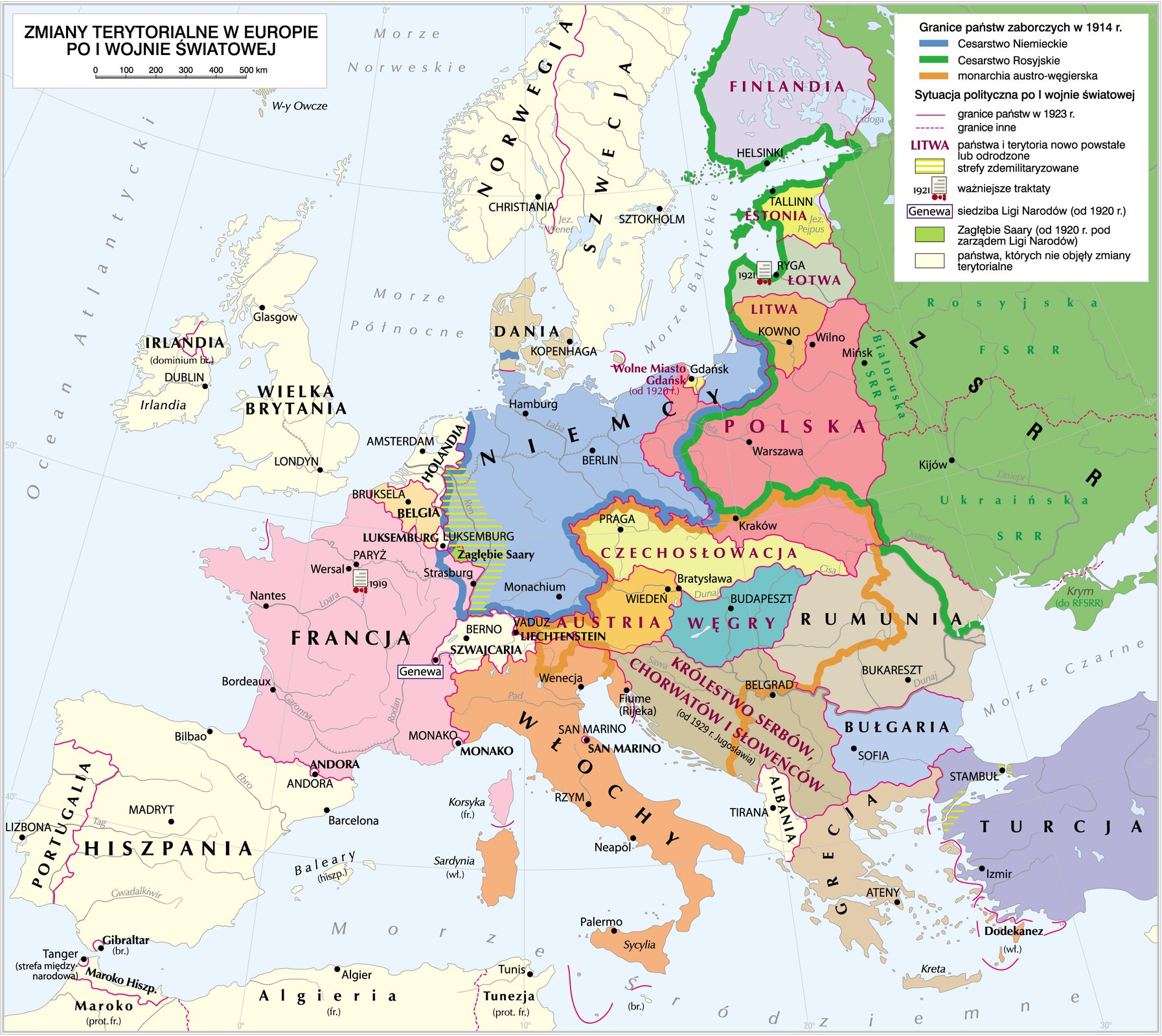 Zmiany terytorialne po Iwojnie światowej Zmiany terytorialne po Iwojnie światowej Źródło: Krystian Chariza izespół, licencja: CC BY 4.0.