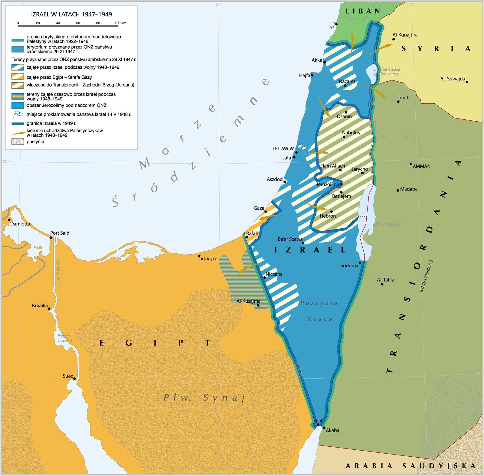Izrael wlatach 1947–1949 Izrael wlatach 1947–1949 Źródło: Krystian Chariza izespół.
