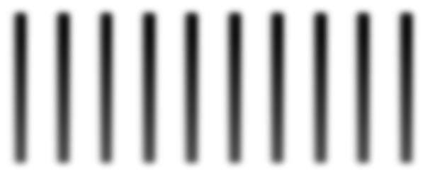 Obraz interferencyjny elektronów ukazany wpostaci czarno-szarych, pionowych irównoległych do siebie prążków umieszczonych wszeregu.