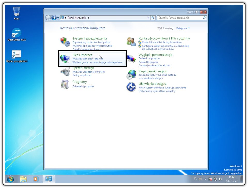 Ilustracja przedstawiająca: Krok 2 konfigurowania ustawień udostępniania wsystemie Windows