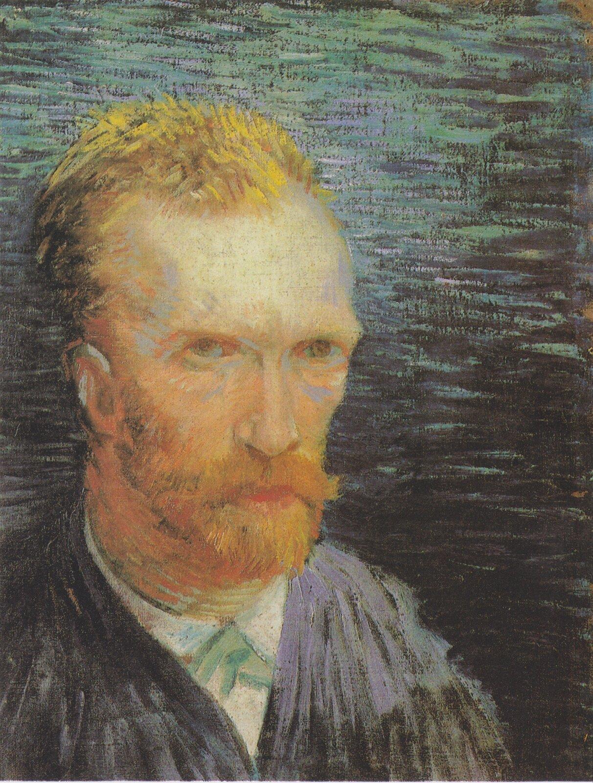 Autoportret Źródło: Vincent van Gogh, Autoportret, 1887, olej na płótnie zamontowany na tekturze, Van Gogh Museum, Amsterdam, domena publiczna.