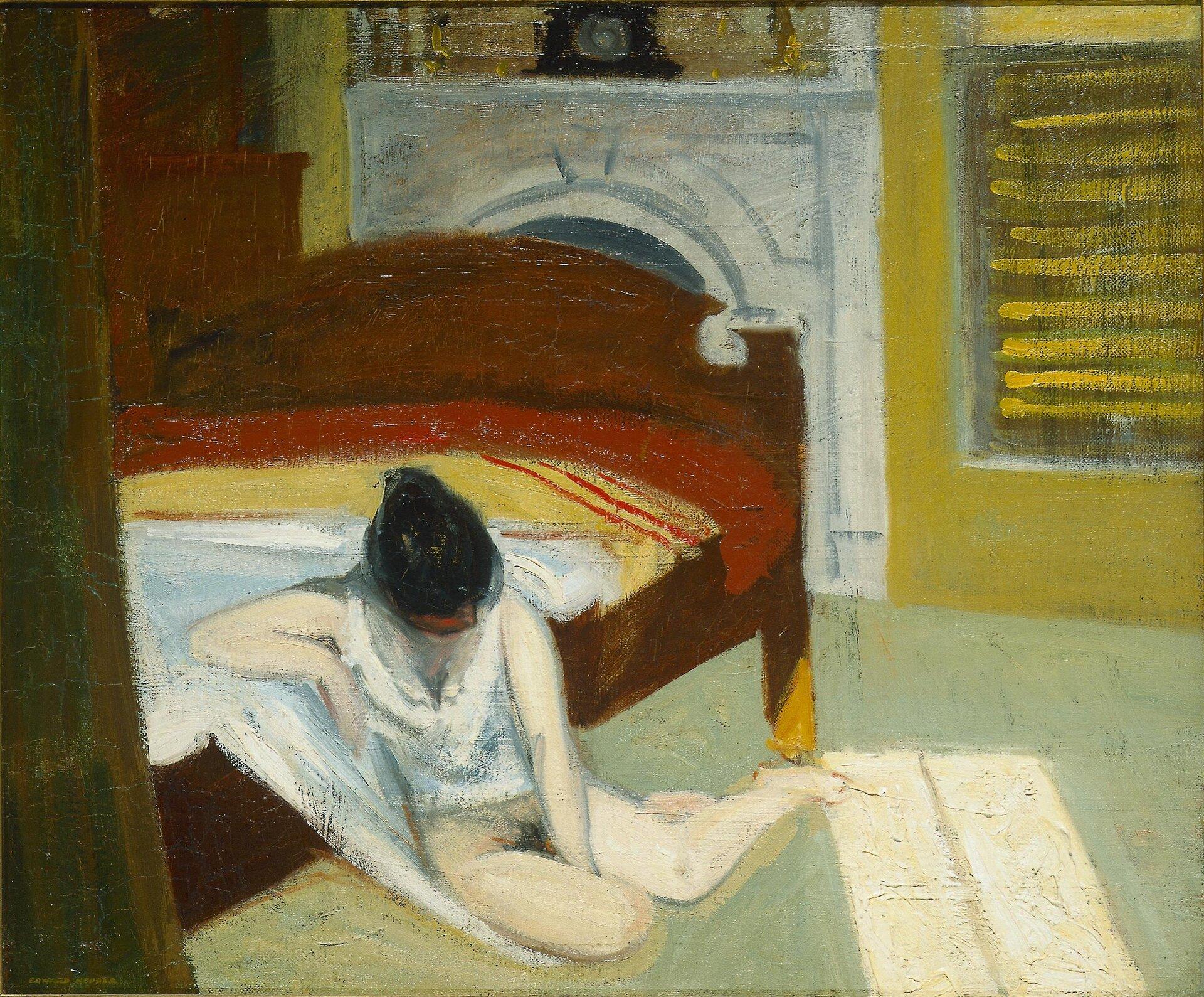 Summer Interior (Letnie wnętrze) EdwardHopper,SummerInterior [Letnie wnętrze], 1909, Whitney Museum of American Art, Nowy York Źródło: Summer Interior (Letnie wnętrze), domena publiczna.