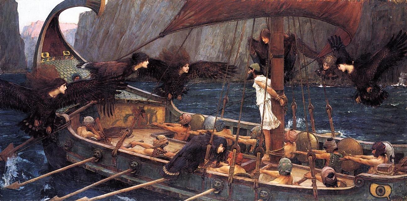 Ulisses isyreny  Źródło: John William Waterhouse, Ulisses isyreny, 1891, olej na płótnie, domena publiczna.