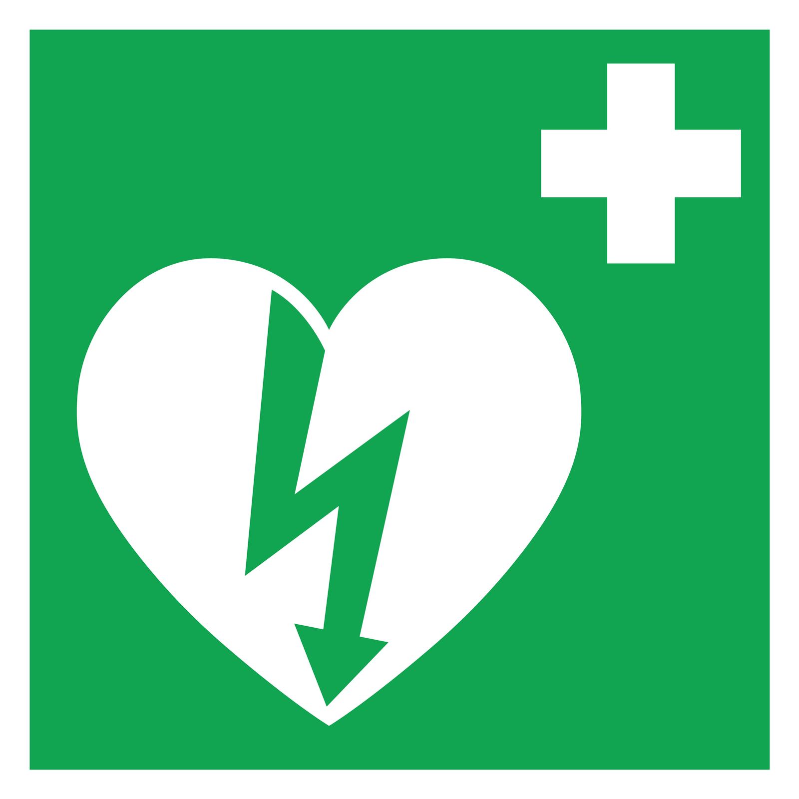 Ilustracja przedstawia zielony kwadrat. Wgórnym prawym rogu biały krzyż. Krzyż orównych ramionach. Poniżej, białe serce zajmujące dwie trzecie kwadratu po lewej stronie. Na środku serca zielona błyskawica. Grot błyskawicy sięga do dolnego rogu serca. Górna część błyskawicy sięga do lewego półkola serca.