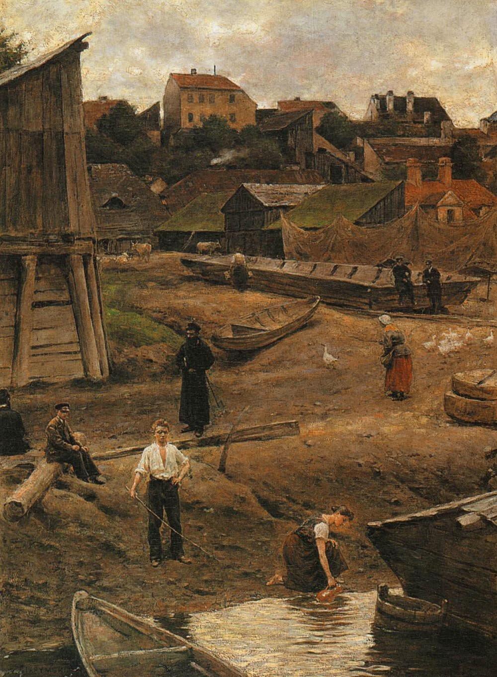 Powiśle Źródło: Aleksander Gierymski, Powiśle, 1883, olej na płótnie, Muzeum Narodowe, Kraków, domena publiczna.